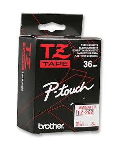 Brother - TZ 262 - Ribbon Red/White-36MM
