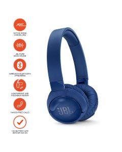 JBL TUNE 600BTNC Wireless, on-ear, active noise-cancelling headphones - Blue