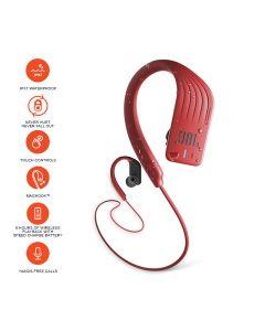 JBL Endurance Sprint Waterproof Wireless in-Ear Sport Headphones with Touch Controls - Red