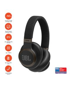 JBL LIVE 650BTNC Wireless Over-Ear Noise-Cancelling Headphones - Black