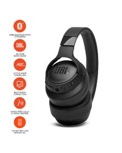 JBL T750BTNC Over-Ear Active Noise Cancelling Wireless Headphone - Black