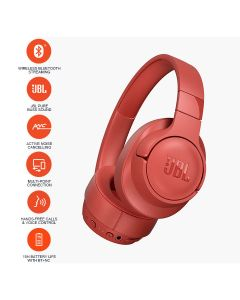 JBL T750BTNC Over-Ear Active Noise Cancelling Wireless Headphone - Corol