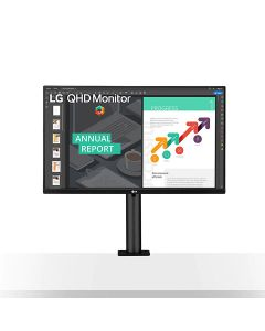 LG 27QN880-B 27'' QHD Ergo IPS Monitor with USB Type-C™