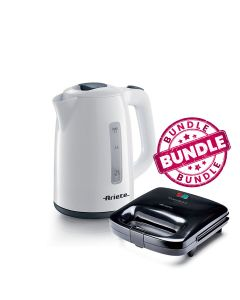 Ariete 2875 Electric Cordless Boiler + Ariete 1982 Toast and Grill Compact
