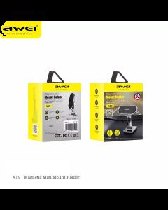 Awei X19 Magnetic Universal Car Phone Holder - Black