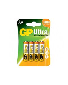 GP 15AU-2UE4 Ultra-Alkaline AA Battery - Pack of 4