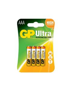 GP 24AU-2UE4 Ultra-Alkaline AAA Battery - Pack of 4