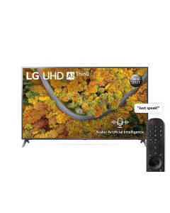 LG 70UP7550PVD UHD 4K TV 70 Inch UP75 Series 4K Active HDR webOS Smart with ThinQ AI