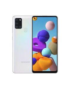 Samsung Galaxy A21S 64GB ROM/4GB RAM Smartphone - White (A217FZWGXSG)