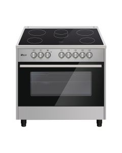 Oscar 9060PCE2 90X60 Semi-Professional Full Electrical Oven Top Table Stainless Steel With Vitro-Ceramic Cooker
