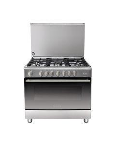 Ariston A9GG1FC (X)/EX 5 Burners Maxi Oven- 90x60 CM 120 Liter - Silver