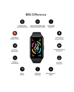 Honor Band 6 Smart Wristband - Meteorite Black
