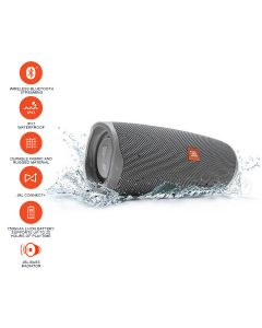 JBL Charge 4 Waterproof Portable Bluetooth Speaker - Gray