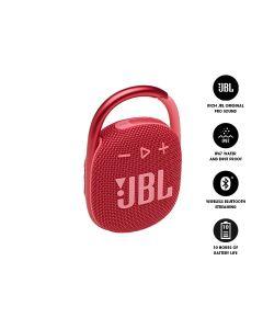 JBL CLIP 4 Ultra-Portable Waterproof Bluetooth Speaker - Red