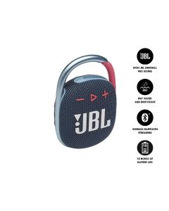 JBL CLIP 4 Ultra-Portable Waterproof Bluetooth Speaker - Blue and Pink