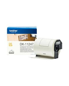 Brother DF 11247 P Touch Label Roll (Black on White) 103mm x 164mm