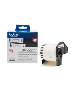 Brother DK-22251 Continuous Paper Label Roll 62mm – Black and Red on White