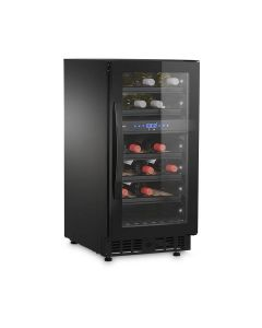 Dometic E28FG Dual-zone Beverage Refrigerator with Frameless Glass Door, 28 bottles