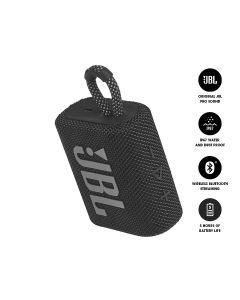 JBL GO 3 Bluetooth Portable Speaker - Black