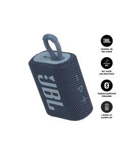 JBL GO 3 Bluetooth Portable Speaker - Blue