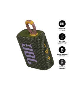 JBL GO 3 Bluetooth Portable Speaker - Green