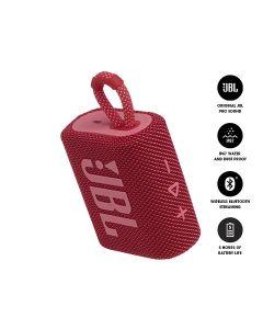 JBL GO 3 Bluetooth Portable Speaker - Red