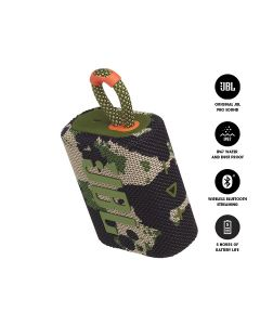 JBL GO 3 Bluetooth Portable Speaker - Squad