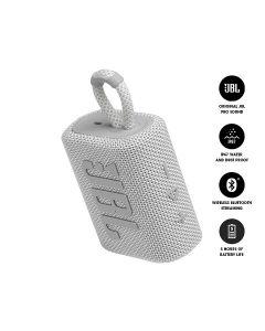 JBL GO 3 Bluetooth Portable Speaker - White