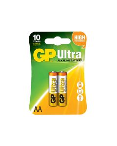 GP GP15AU-2UE2 Alkaline Battery AA 1.5V GP Ultra Pack of 2
