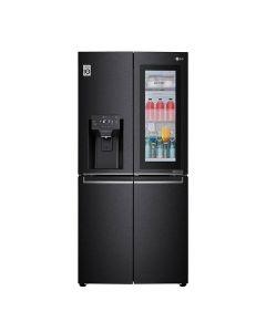 LG GR-X29FTQEL 491Ltrs Slim French Door Fridge, InstaView™ Door-in-Door®, Matte Black, Linear Cooling, Hygiene FRESH+™, ThinQ™