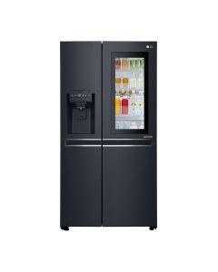 LG GR-X337CQAL Side by Side Refrigerator, InstaView Door-in-Door™, Matte Black, Hygiene FRESH+™, ThinQ