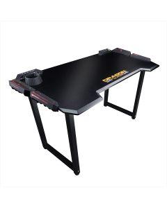 Dragon War GT-005 Pro Gaming Desk + RGB Light Effect - Black
