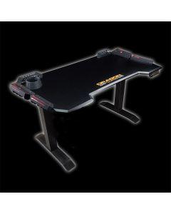 Dragon War GT-007 RGB + Height Adjustable Pro Gaming Desk - Black