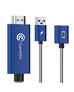 GameSir GTV 100 Display Adapter Cable from iOS to HDMI - Blue