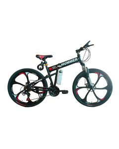 """Hummer Foldable Alloy Bicycle -20"""" - Black"""