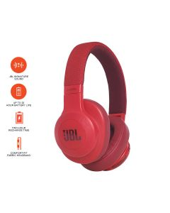 JBL E55BT Over-Ear Wireless Headphones - Red