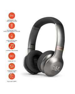 JBL Everest V310BT On-Ear Bluetooth Noise-canceling Headphones - Gun Metal