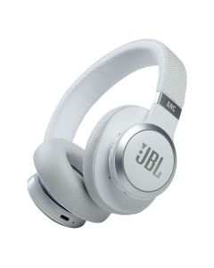 JBL Live 660NC Wireless Over-Ear Noise Cancelling Headphones - White