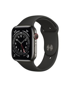 Apple Watch Series 6 GPS + Cellular 40mm Graphite Stainless Steel Case with Sport Band Black - M06X3AE/A