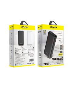 Awei P47K 20000mAh Dual USB Fast Charger Powerbank