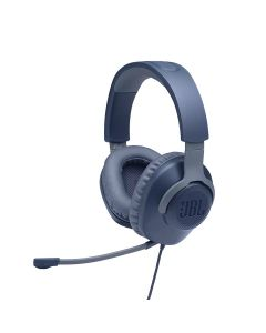 JBL Quantum 100 Wired Over-ear Gaming Headset with a Detachable Mic - Blue