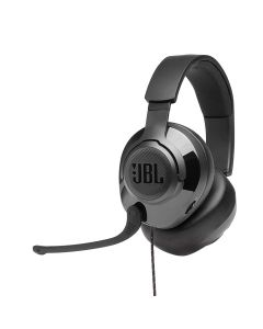 JBL Quantum 200 Wired Over-ear Gaming Headset with flip-up Mic - Black