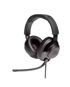 JBL Quantum 300 Hybrid Wired Over-ear Gaming Headset with Flip-up Mic - Black