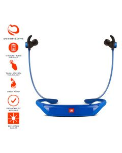 JBL Reflect Response Touch-Control Bluetooth Sports In-Ear Headphones - Blue