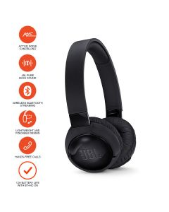 JBL TUNE 600BTNC Wireless, on-ear, active noise-cancelling headphones - Black