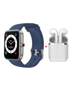 Xcell LX1 Blue Smart Watch + Xcell Soul 7 Wireless Earbuds