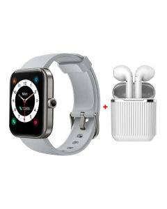 Xcell LX1 Gray Smart Watch + Xcell Soul 7 Wireless Earbuds