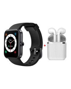 Xcell LX1 Black Smart Watch + Xcell Soul 7 Wireless Earbuds