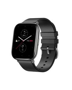 Zepp SQUARE with Leather Strap Smart Watch - Polar Night Black