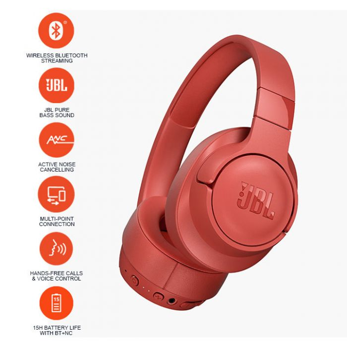 JBL T750BTNC Over-Ear Active Noise Cancelling Wireless Headphone
